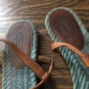 Coach Shoes - Coach • Leather t strap sandals